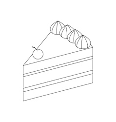 Cake icon isometric 3d style vector image vector image