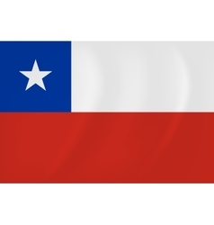 Chile waving flag vector