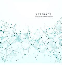 data visualization concept graphic node pattern vector image
