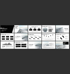elements for presentation templates vector image vector image
