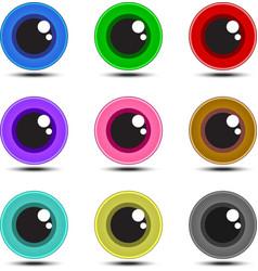 Eye ball multicolor vector