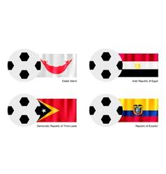 Football of Easter Island Egypt Timor Leste vector image vector image