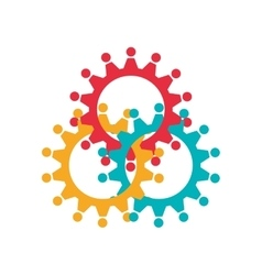 Gears icon machine part design graphic vector