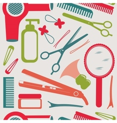 Hairdressing accessories pattern vector image vector image