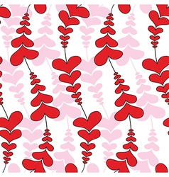 Heart wave flower seamless pattern vector image