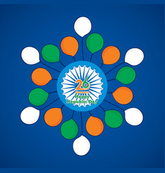 India flag color balloon vector