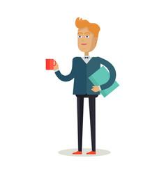man character in flat design vector image vector image