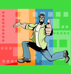 man showing okay gesture vector image vector image