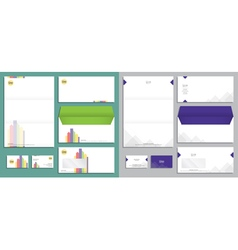 Modern stationery set in format vector