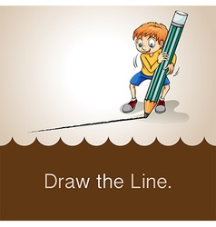 Old saying draw the line vector image vector image