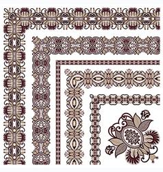 ornamental floral vintage frame design vector image vector image