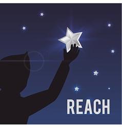 Reach digital design vector image