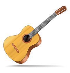Realistic detailed acoustic guitar musical vector
