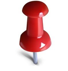 Red thumbtack vector