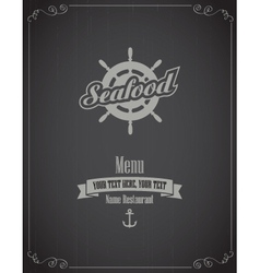 Seafood menu vector