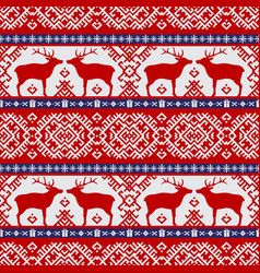 seamless pattern with deers vector image vector image