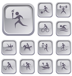 Sport buttons vector image vector image