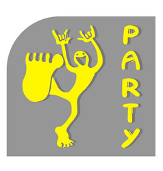 sticker party vector image vector image