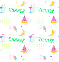 summer seamless pattern with colorful tropical vector image