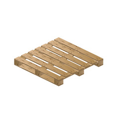 wooden pallet isometric vector image vector image