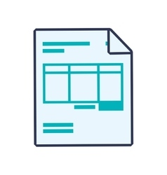 Document data information icon graphic vector