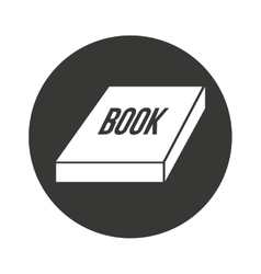 Book text isolated icon vector