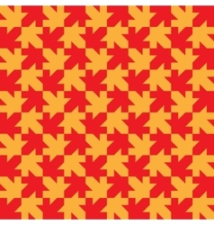 Seamless maple leaf pattern regular tiled vector