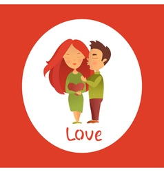 Couple in love 14 vector image