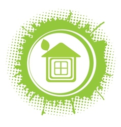 Eco home symbol icon vector