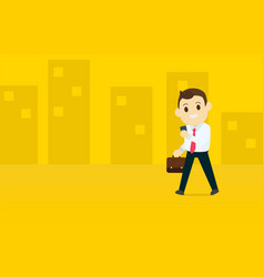 Young business man use a smart phone vector