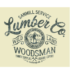 Sawmill service lumber company vector