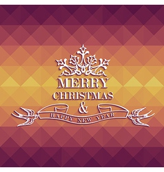 Merry christmas colorful geometric greeting card vector