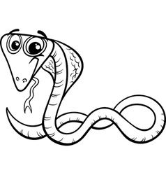 Cobra cartoon coloring page vector
