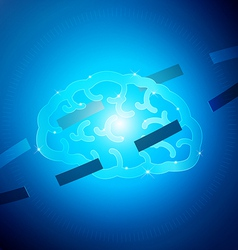 Brain hi tech vector