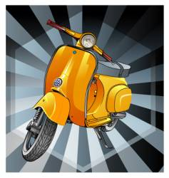 Vespa old vector image