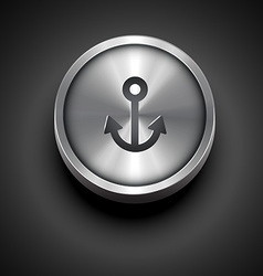 Metallic anchor icon vector
