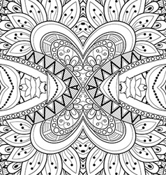 Seamless abstract black and white tribal pattern vector
