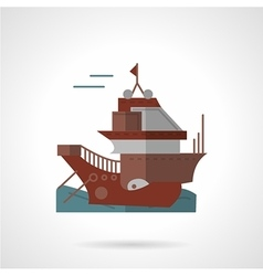 Cargo vessel flat icon vector