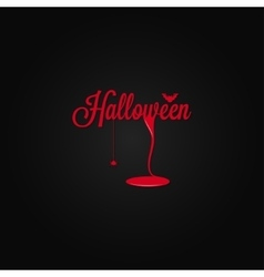 Halloween icon lettering blood drop background vector