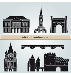 Metz landmarks and monuments vector
