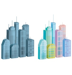 Icons of city vector