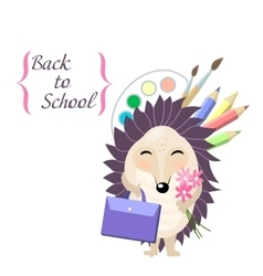 Back to school stylish card in cute style with vector