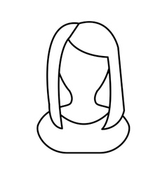 Avatar woman icon people design graphic vector