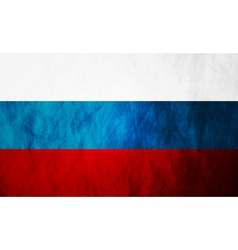 Grunge russian flag vector