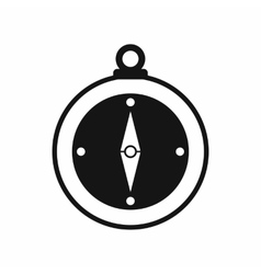 Compass icon simple style vector