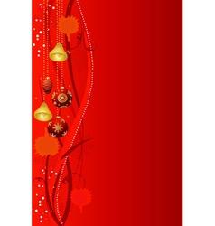Abstract christmas background christmas-tree decor vector image