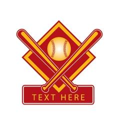 baseball logo vector image