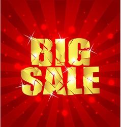 Big sale background sample vector