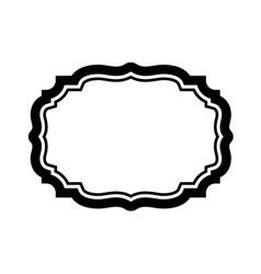Black frame beautiful simple design vector