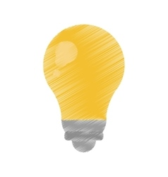 Bulb light energy electricity icon ed vector